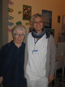 Fabiana Barsotti con un'ospite della struttura