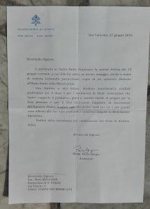 Risposta Papa Francesco