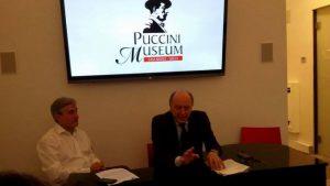 Marsili con il Sindaco di Lucca Alessandro Tambellini al Puccini Museum